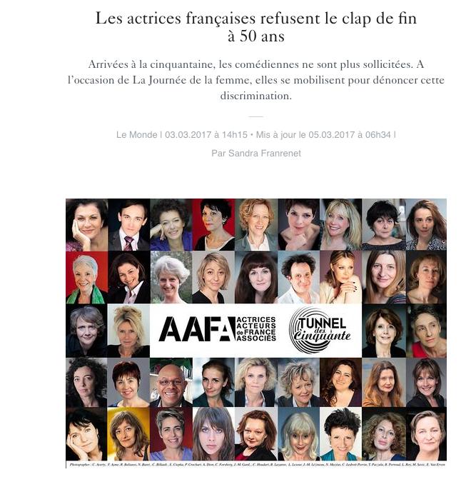Les actrices refusent le clap de fin à 50 ans